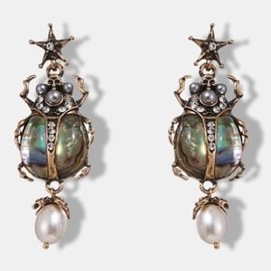 ⚡️Antique gold insects earrings